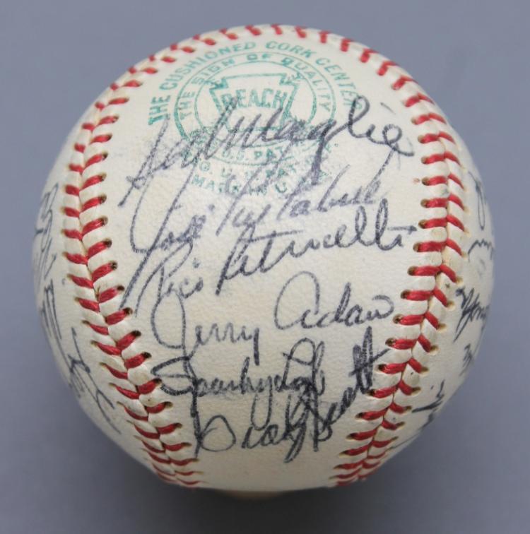 1967 Boston Red Sox Baseball: 25 signatures