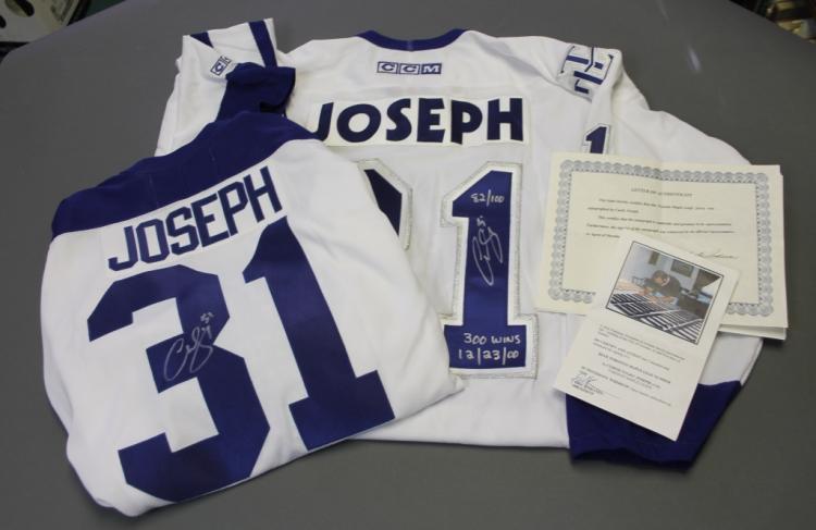2 Curtis Joseph sgd. Toronto Maple Leafs jerseys