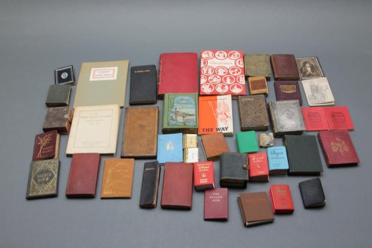 42 Vols: Miniature books. Bible, prayer, devotion.