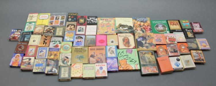 Over 60 mini books: Cats, other animals, art...
