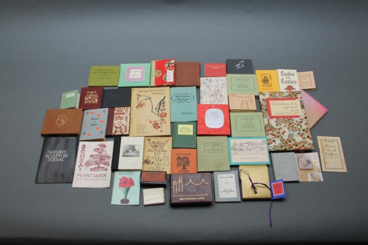 37 mini books: Fontaine, Wyeth, Alamo...