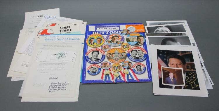 25 signed items: Humphrey, Quayle, Gore, others.