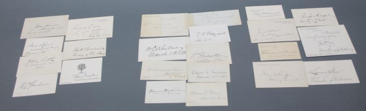 21 signature cards: Cleveland, McKinley appointees
