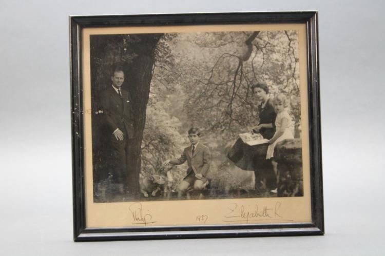 Queen Elizabeth II/ Prince Philip signed photo.