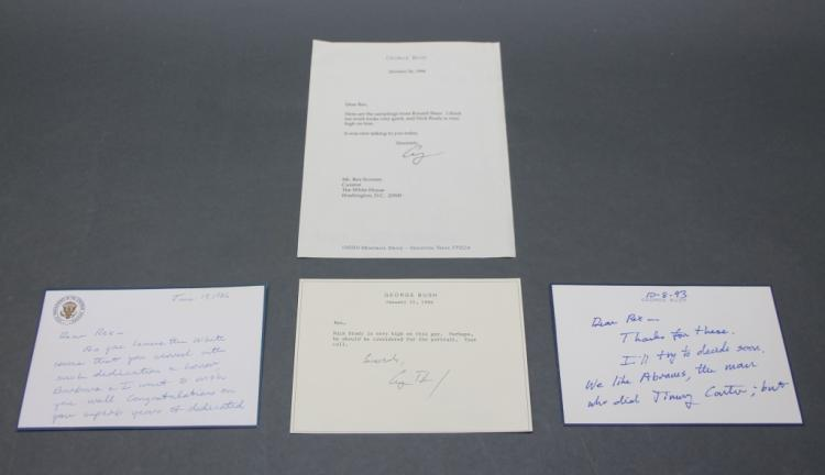4 signed items: George H. W. Bush, incl 2 ALSs.