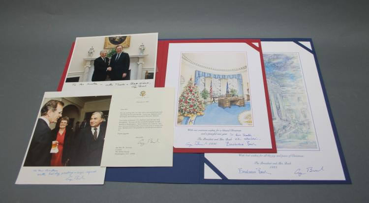 5 items signed by George H. W. Bush (2 inscribed).