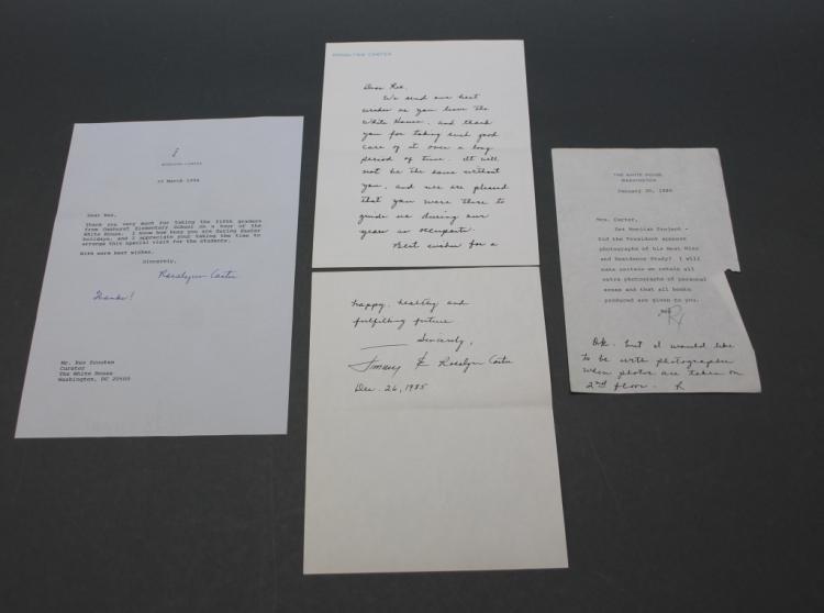 3 items signed by Rosalynn Carter: ALS, TLS, ANS.