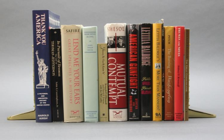 12 Books, mostly signed, inscribed to Rex Scouten.