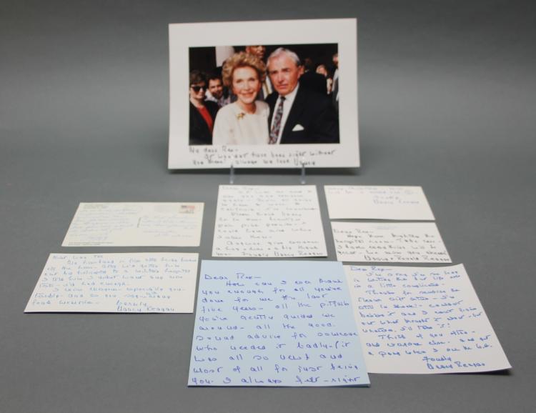 7 items: Nancy Reagan: 6 ALSs/ANSs + 1 inscr photo