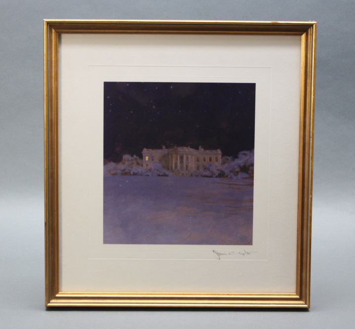 Jamie Wyeth. Ink signed halftone litho of WH.