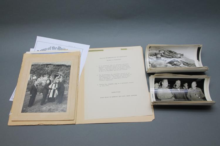 Over 42 Items, mostly small Signal Corps photos.