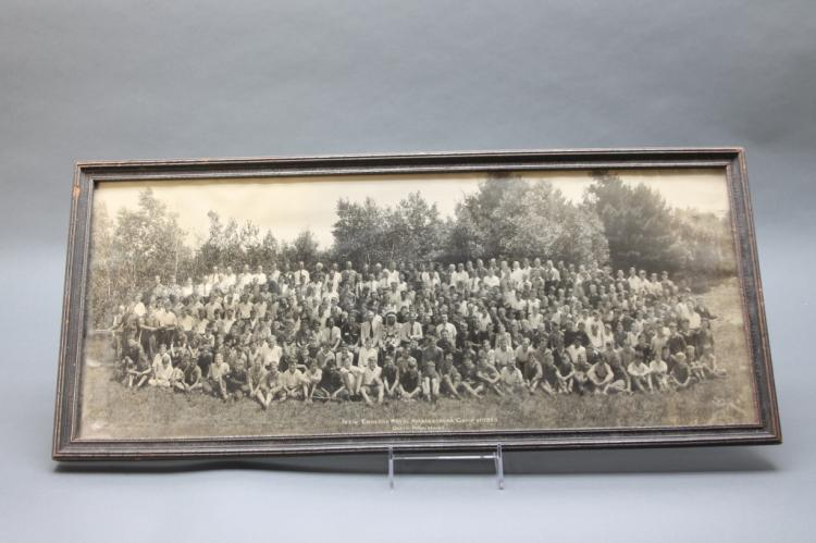 4 Panoramic photos of Summer Camps, 1928-1939.