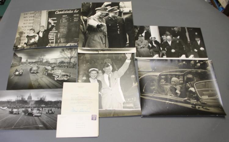 7 Rickerby photos: Pres. Eisenhower w/ Mamie TLS