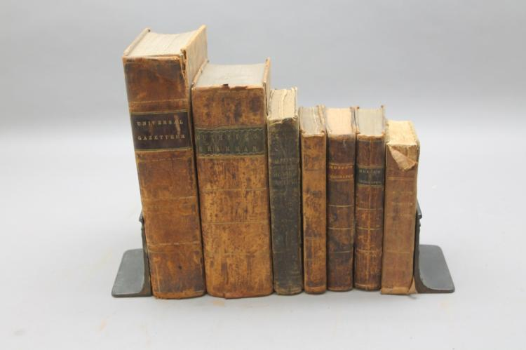 7 geographies/school books incl Guthrie, 1794.
