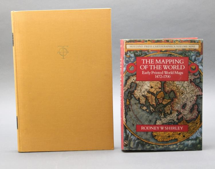 2 Books: Shirley, ...WORLD + Ptolemy, COSMOGRAPHIA