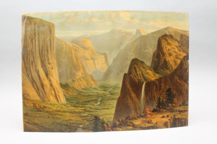 Crosby Chromolithograph: Yosemite Valley c. 1873