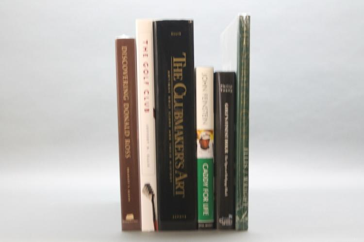 6 Golf books incl: THE CLUBMAKER'S ART, inscribed.