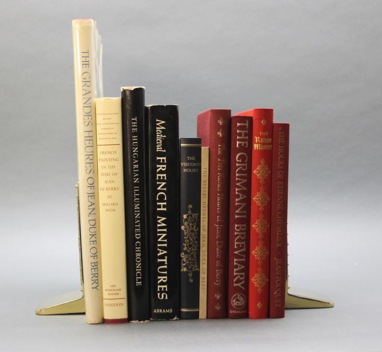 10 illuminated manuscript facsimiles.