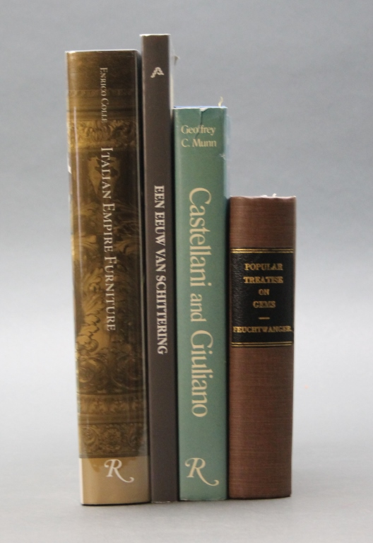 4 Books incl: POPULAR TREATISE ON GEMS. 1859.