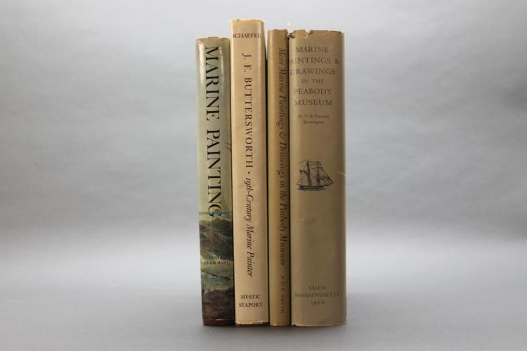 4 Books incl: THE MARINE PAINTINGS AND DRAWINGS...