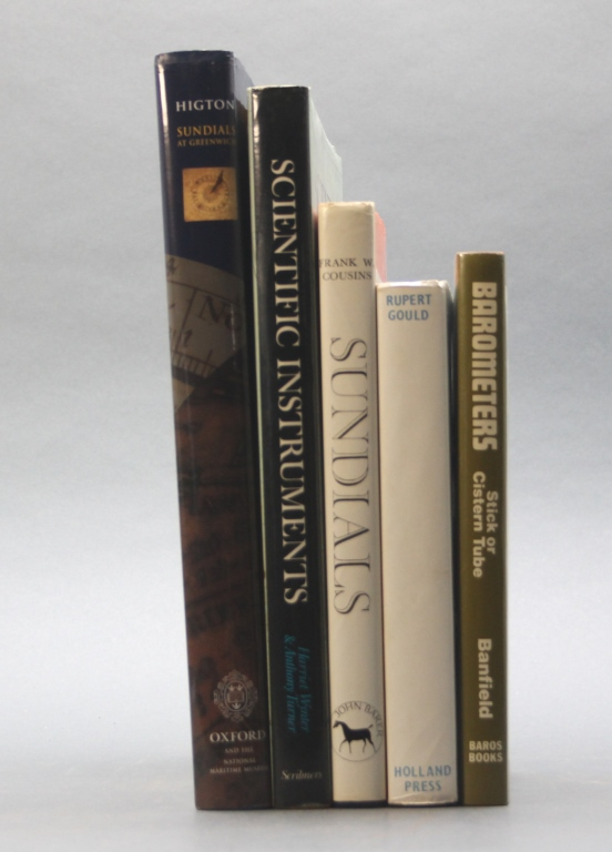 5 Books incl: Highton. SUNDIALS AT GREENWICH.
