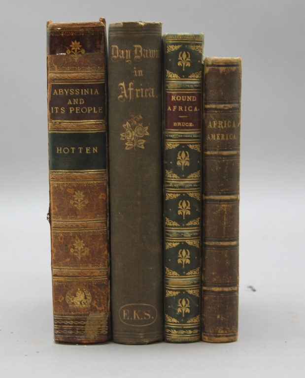 4 Books incl: ABYSSINIA AND ITS PEOPLE… 1868.