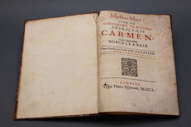 Payne Fisher: Marston-Moor, 1650, First Edition