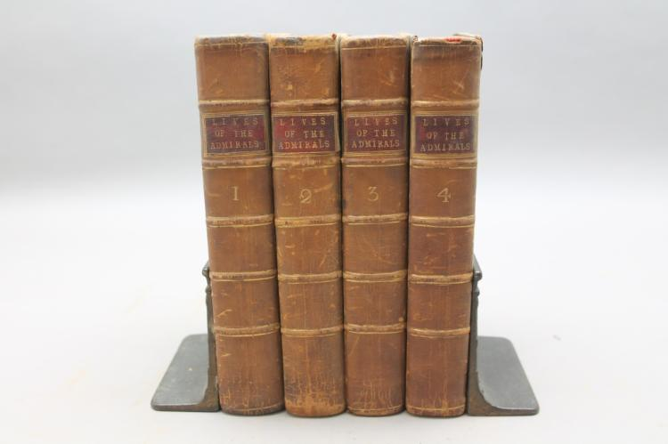 LIVES OF THE BRITISH ADMIRALS... 4 Vols. 1781.