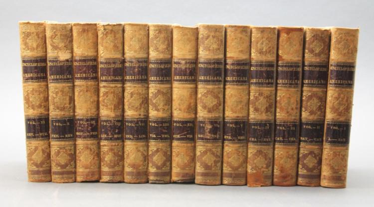 ENCYCLOPAEDIA AMERICANA. 13 Vols. Phila: 1842.