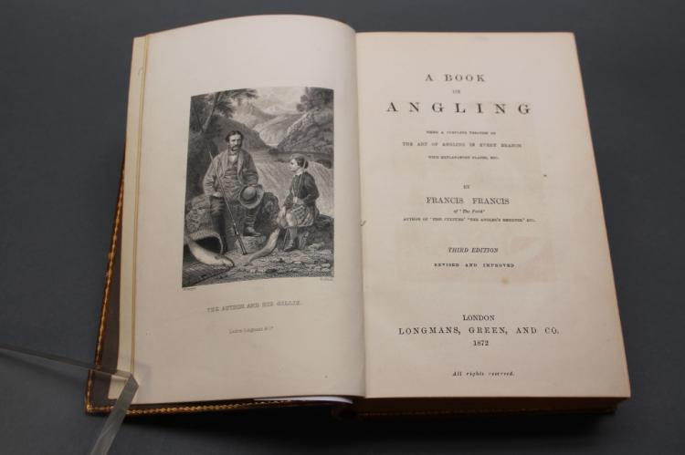 Francis. A BOOK ON ANGLING... 1872. 17 plates.