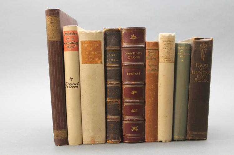 9 Books: Surtees, John Leech, foxes, hunting...