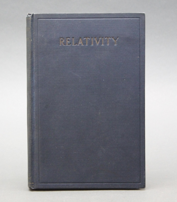 Einstein. RELATIVITY. 1920. 1st American edition.