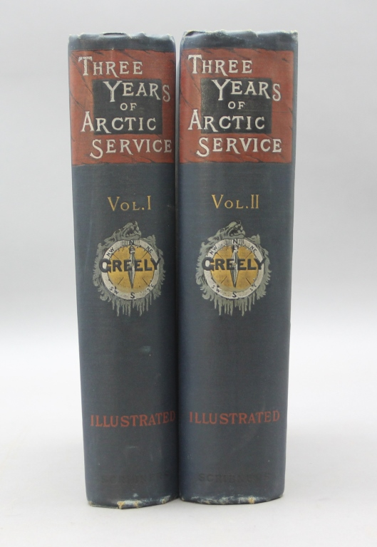 Greely. THREE YEARS OF ARCTIC SERVICE. 2 Vols 1886