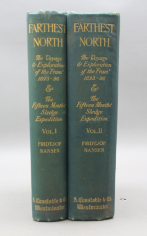 "FRITJOF NANSEN'S ""FARTHEST NORTH"" 2 Vols. 1897."