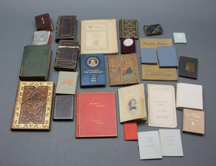 27 Vols: Miniature poetry books. Tennyson, others.