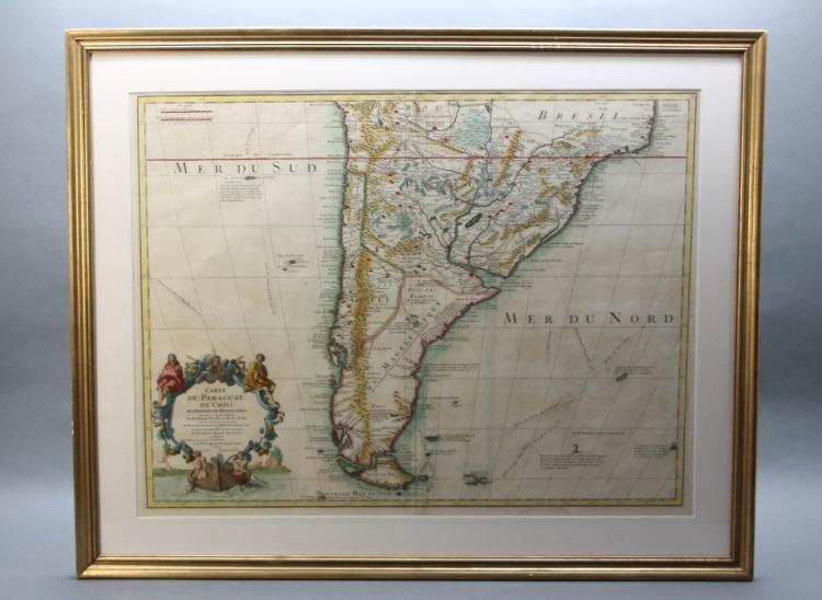 Carte Du Paraguay Du Chili Du Detroit de Magellan