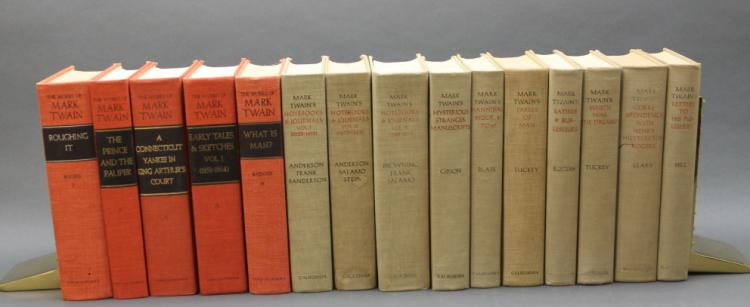 15 Vols incl: THE MARK TWAIN PAPERS. 10 Vols.