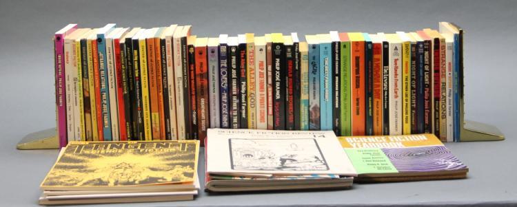 ~60 books, magazines. Philip Jose Farmer softcover