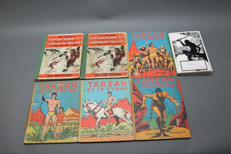 7 books: Tarzan. 1 inscribed by Danton Burroughs.