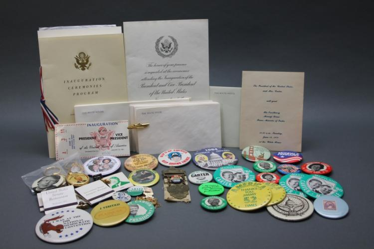~46 Items, mostly US Political campaign buttons.