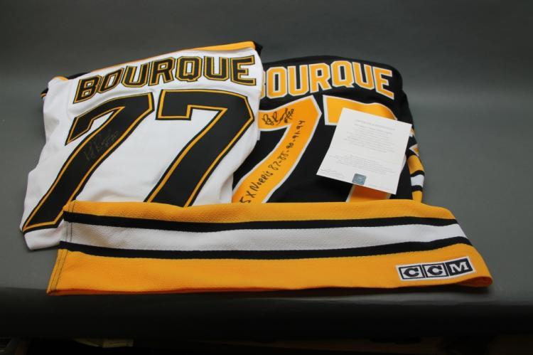 2 Ray Bourque sgd. Boston Bruin Hockey Jerseys