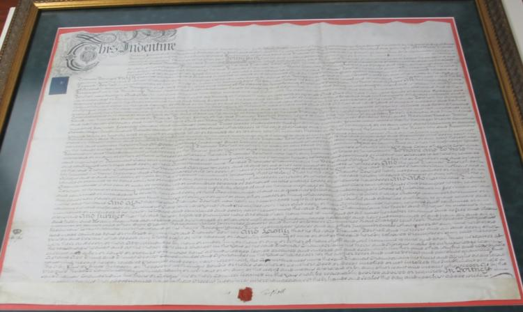 Indenture: Thomas Torshell to Thomas Chamberlain.