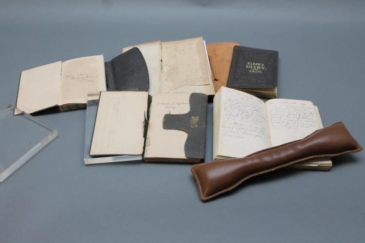 5 diaries, 1859-1889: Upham brothers, 3 others.