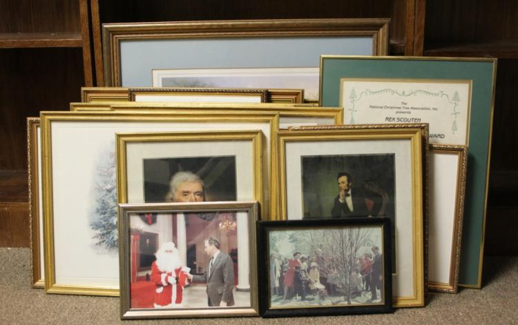 18 items incl 15 White House Christmas prints.