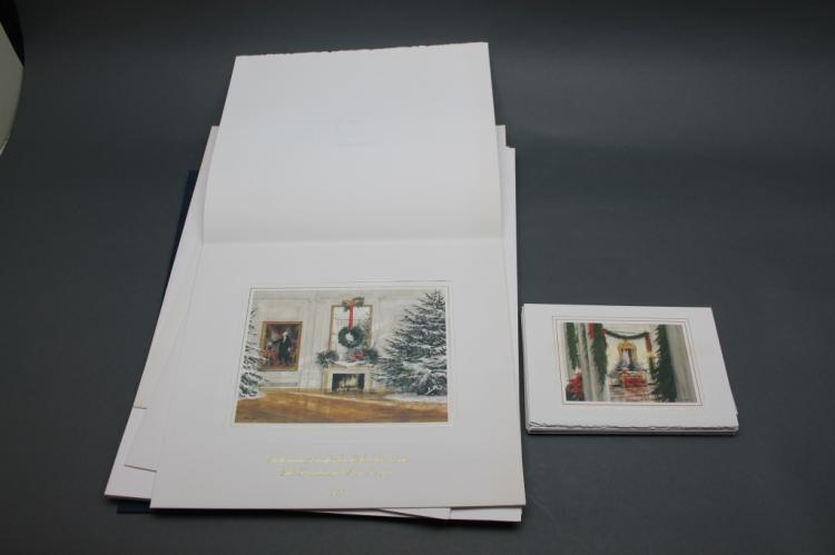 11 White House Christmas prints +  9 Xmas cards.