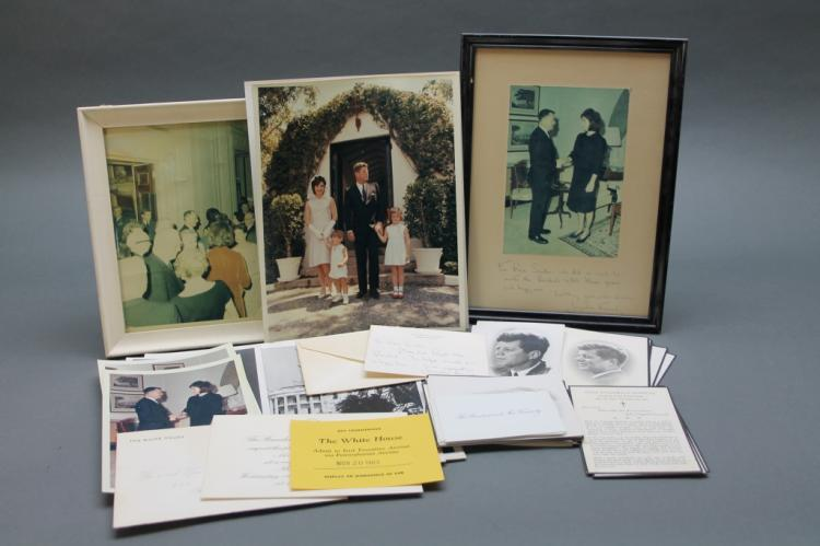 Over 42 items incl Jackie Kennedy ANS, inscr photo