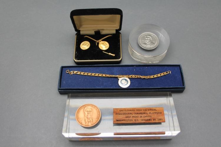 Pres. Reagan Inaugural & Commemorative Coins