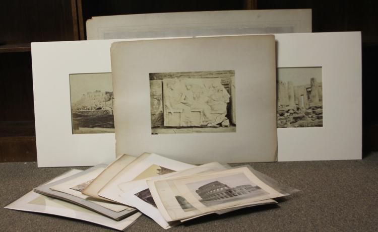 Over 25 photographs: Greece, etc. Many albumen.