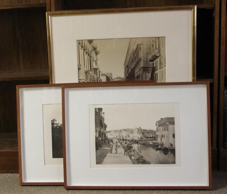 3 items incl imperial albumen photograph: Venice
