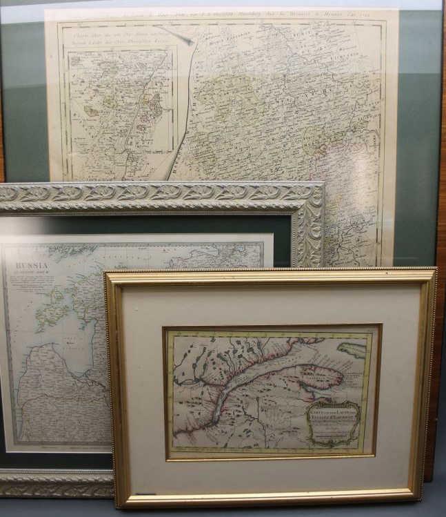 3 Maps incl: KARTE VON DEM LAUFE DES FLUSSES...